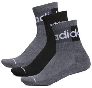 adidas Men's 3-Pk. Linear Ii High Quarter Socks