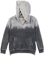 Vintage Havana Dip-Dye Pullover Hoodie with Side Zip Details (Big Girls)