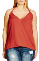 City Chic Plus Size Women's Double Eyelet Camisole