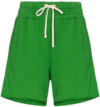 Les Tien cut-off cotton shorts