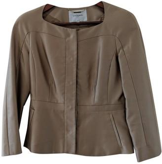 LK Bennett Gold Silk Jacket for Women