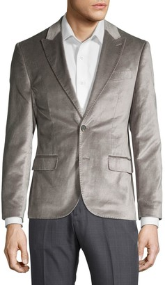 Karl Lagerfeld Paris Slim Fit Velvet Dinner Jacket
