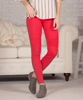 Contagious Women's Jeggings Red - Red Moto Jeggings - Women