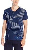 Calvin Klein Men's Outline Triangle Repeat Print Graphic V-Neck T-Shirt