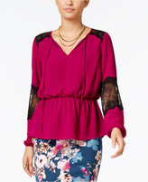 Thalia Sodi Lace-Trim Peasant Top, Only at Macy's