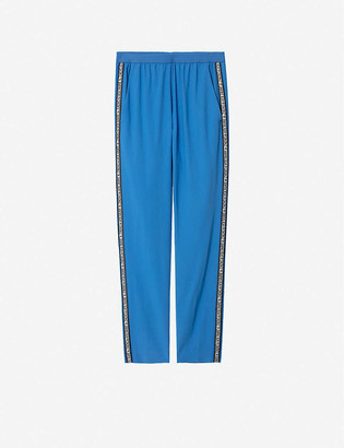 Zadig & Voltaire Paula side-stripe woven trousers