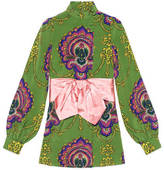 Gucci 70s Graphic Print Shirt With Bow