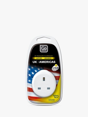Go Travel USB UK to USA Travel Adaptor