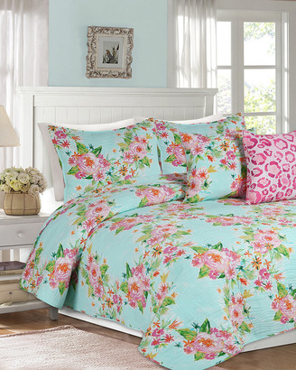 Melange Home Barbarian Boundless Floral Quilt Set Multi