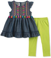 Kids Headquarters 2-Pc. Tassel Tunic & Leggings Set, Baby Girls