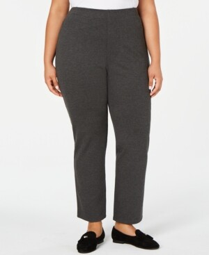 Karen Scott Plus Size Straight-Leg Pants, Created for Macy's