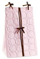 Bacati Q Cir Pink/Choco Diaper Stacker