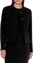 Akris Abadin Round Neck Short Waist Jacket
