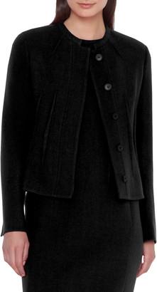 Akris Abadin Round Neck Short Waist Jacket