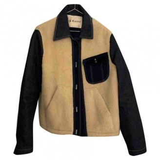 Acne Studios Bla Konst Beige Shearling Jacket for Women