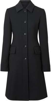 Burberry Wool Silk Tailored Coat