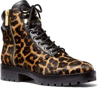 MICHAEL Michael Kors Rosario Cheetah-Print Fur Combat Booties