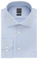 Ike Behar Textured Outline Gingham Classic Fit Dress Shirt