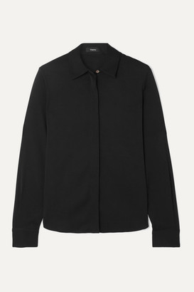 Theory Silk-blend Shirt - Black