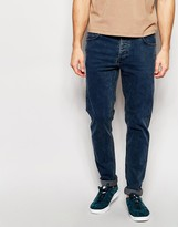 Dr Denim Jeans Clark Slim Fit Dull Blue Acid Wash