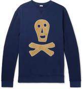 Loewe Oversized Suede-Appliquéd Loopback Cotton-Jersey Sweatshirt