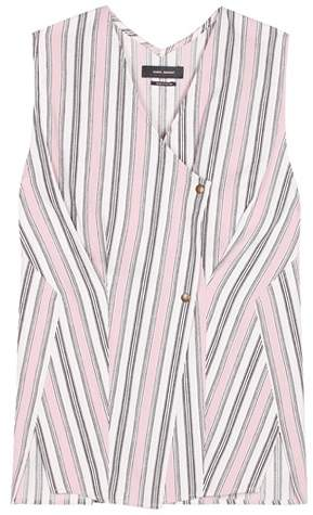 Isabel Marant Safi striped cotton top