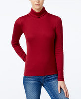 Planet Gold Juniors' Ribbed Turtleneck Top