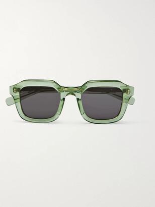 Native Sons Matheson Square-Frame Tortoiseshell Acetate Sunglasses
