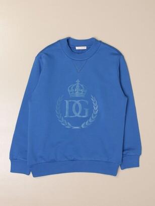 Dolce & Gabbana Dolce Gabbana Crewneck Sweatshirt In Cotton With Logo