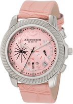 Akribos XXIV Women's AKR438P Ultimate Quartz Chronograph Diamond Pink Dial Watch