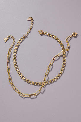 Anthropologie Gold Rush Necklace Set