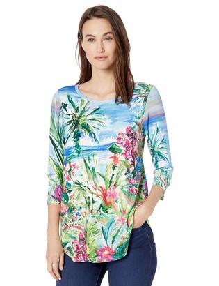 Karen Kane Women's 3/4 Sleeve Shirttail TEE