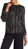Diane von Furstenberg Evvy Bead Embellished Silk Blouse