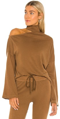 Enza Costa Silk Cashmere Mockneck Sweatshirt