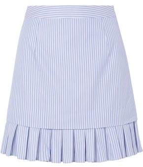 Maggie Marilyn Pleated Striped Cotton Mini Skirt