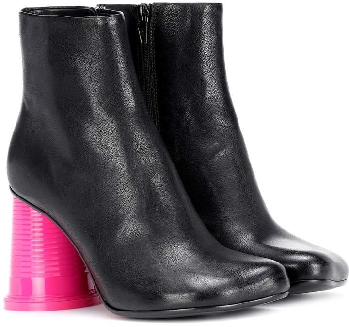 8da6ab56cc23 MM6 MAISON MARGIELA Black Leather Women's Boots - ShopStyle