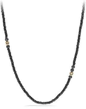 David Yurman Skull Necklace With Black Spinel, Black Diamonds And 18K