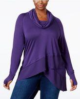 Melissa McCarthy Trendy Plus Size Asymmetrical Sweater