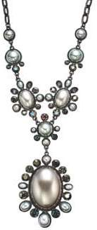 Stein And Blye Faux Pearl & Crystal Pendant Necklace