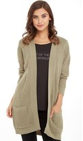 Brave Soul Womens Antison Cardigan With Pockets Moss Green