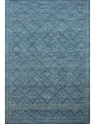 "MistanaTM Kory Hand Hooked Wool Azure Rug Mistana Rug Size: Rectangle 3'6"" x 5'6"""