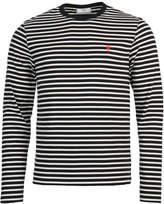 Ami Long Sleeved T-Shirt Navy / White H17J10672420
