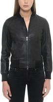 Forzieri Black Leather Women's Bomber Jacket