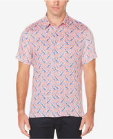Perry Ellis Men's Paisley Linen Shirt