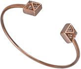 Blu Bijoux Rose Gold Crystal Double Pyramid Bangle
