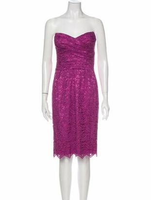 Dolce & Gabbana Strapless Mini Dress Purple