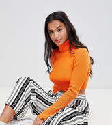 Missguided Petite High Neck Ribbed Crop Sweater