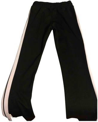 Palm Angels Black Cotton Trousers for Women