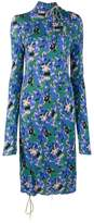 Marni asymmetric crepe-jersey midi dress