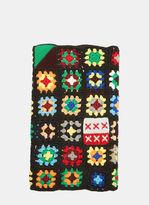 J.W.Anderson Crochet Knit Scarf in Black